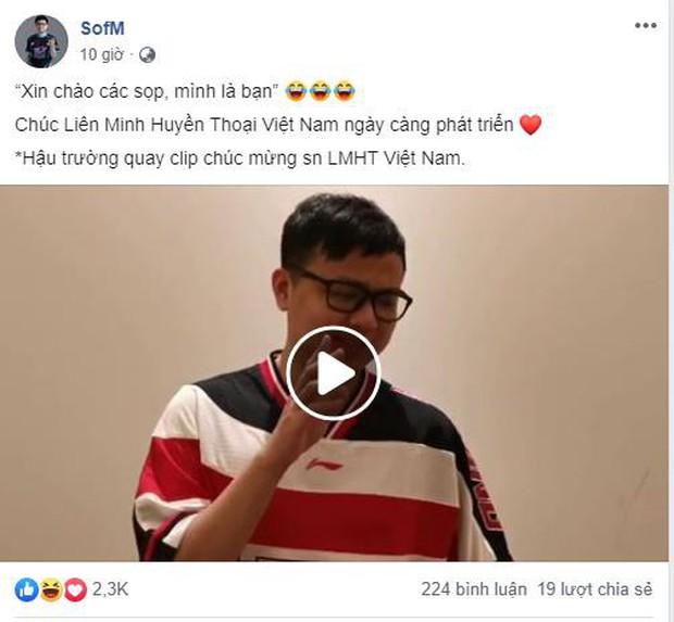 Khóc thét với thần rừng SofM, quay hẳn clip mừng sinh nhật LMHT Việt Nam nhưng chỉ tội… quên lời! - Ảnh 1.