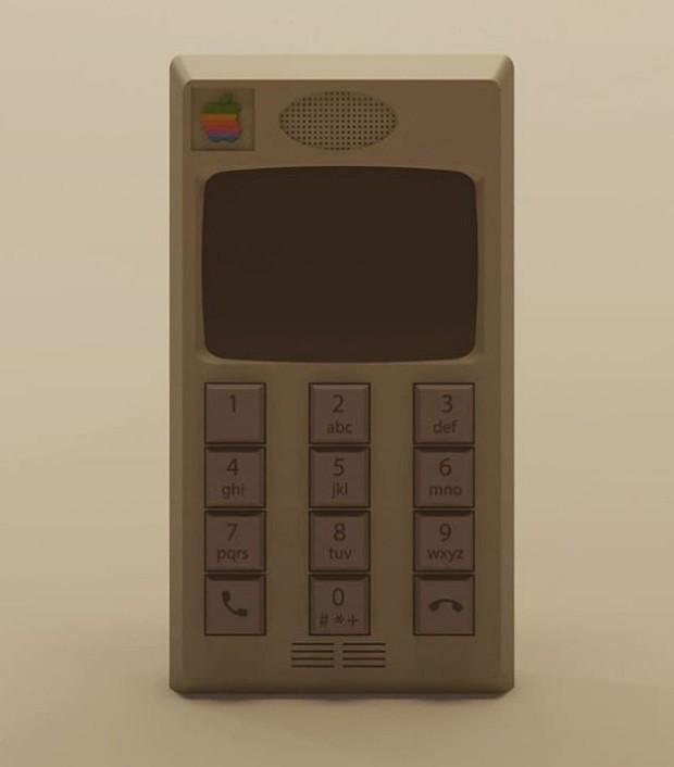Nếu Apple làm iPhone hồi thập niên 80, trông nó sẽ cục mịch như thế này đây - Ảnh 1.