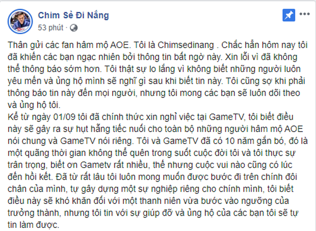 Chim Sẻ Đi Nắng bất ngờ rời GameTV để thành lập đế chế AoE của riêng mình - Ảnh 1.