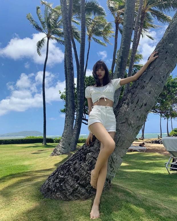 Sống ảo đỉnh như BLACKPINK tại Hawaii: Jennie và Lisa khoe body siêu nuột, Rosé đỉnh nhất mặc kệ ảnh ngược sáng - Ảnh 1.