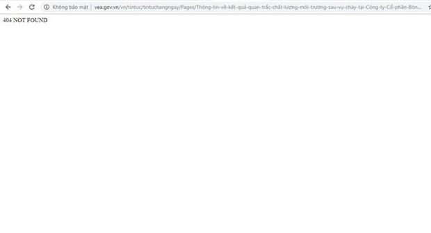 Thông tin về thuỷ ngân ở Rạng Đông trên website Tổng Cục Môi trường không truy cập được - Ảnh 3.
