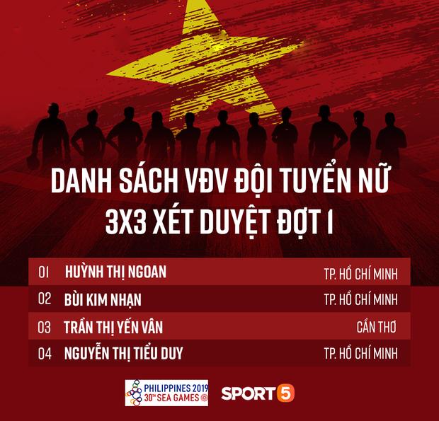 Danh sách đội tuyển nam và nữ tại SEA Games 2019: Dàn sao Saigon Heat chiếm phần lớn, TP Hồ Chí Minh tiếp tục đi đầu ở bóng rổ nữ - Ảnh 2.