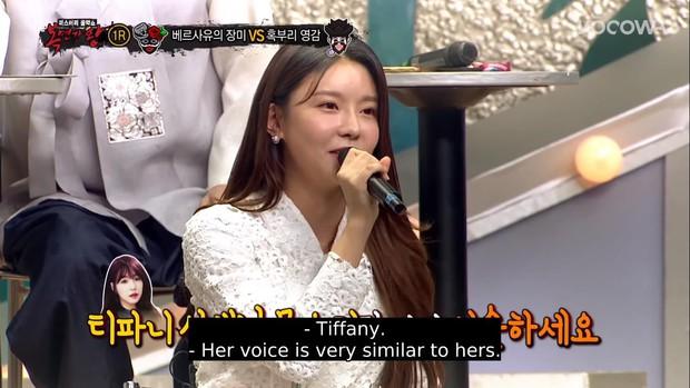 Chưa kịp lộ diện, Tiffany (SNSD) đã bị lật tẩy trên show hát mặt nạ vì chất giọng quá đặc trưng? - Ảnh 9.