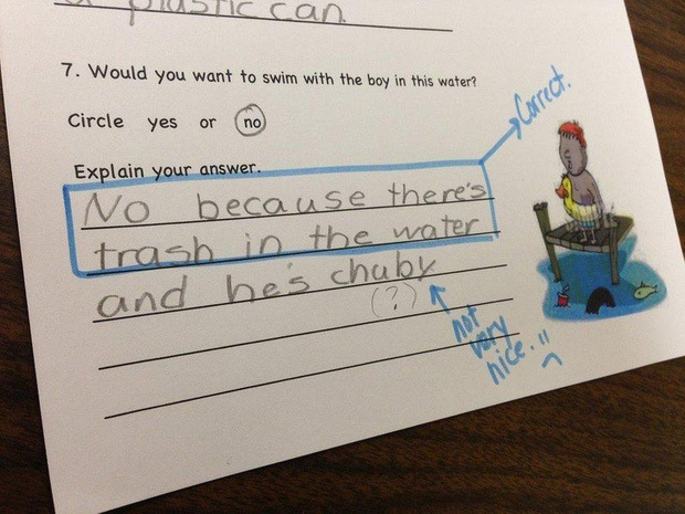 """20 câu trả lời bá đạo trong bài kiểm tra chỉ những đứa trẻ """"thiên tài"""" mới có thể nghĩ ra - Ảnh 9."""