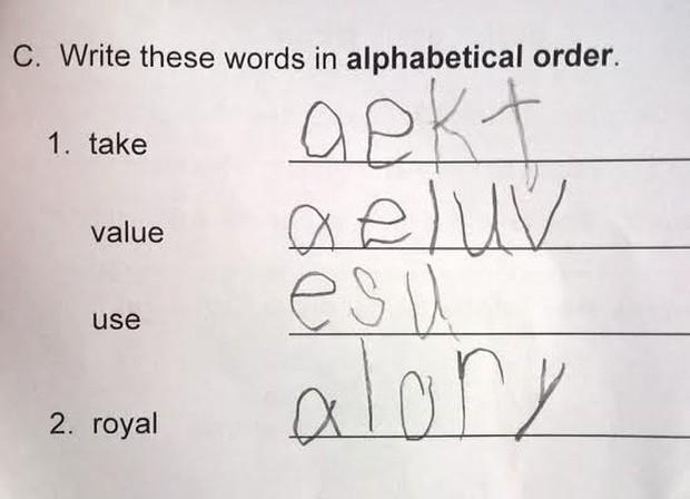 """20 câu trả lời bá đạo trong bài kiểm tra chỉ những đứa trẻ """"thiên tài"""" mới có thể nghĩ ra - Ảnh 10."""