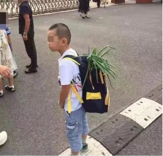 Bắt gặp học sinh bỏ củ hành lá vào cặp trong ngày đầu tiên đến trường, cư dân mạng thích thú trước ý nghĩa của phong tục hiếm có khó tìm này - Ảnh 1.