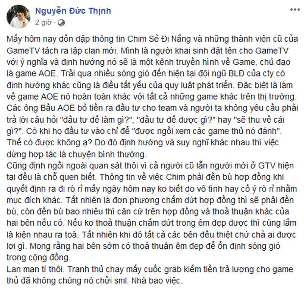 Giữa tâm bão drama lớn nhất làng eSports Việt: Chim Sẻ Đi Nắng vẫn ra quân trong màu áo GameTV - Ảnh 3.