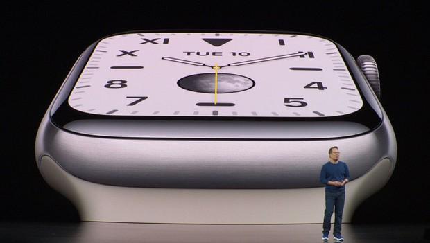 Apple công bố Apple Watch Series 5: Màn hình always-on, thêm la bàn, lựa chọn vỏ ngoài bằng titan, giá 399 USD - Ảnh 1.