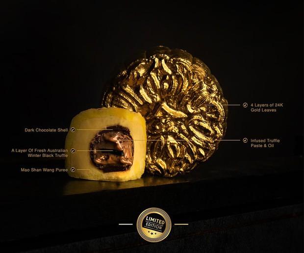 Một trong những chiếc bánh Trung thu đắt nhất thế giới đây rồi: dùng loại nấm xịn, lại còn thêm cả vàng 24k - Ảnh 3.