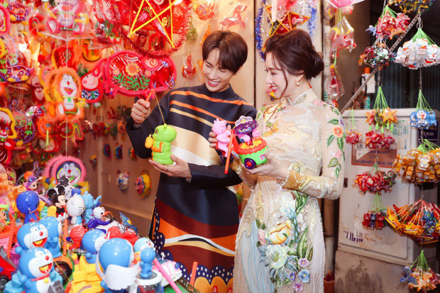 Không phải Trấn Thành, Hari Won bất ngờ tình tứ bên mỹ nam nhóm nhạc Kpop đình đám một thời trong bộ ảnh Trung Thu - Ảnh 4.