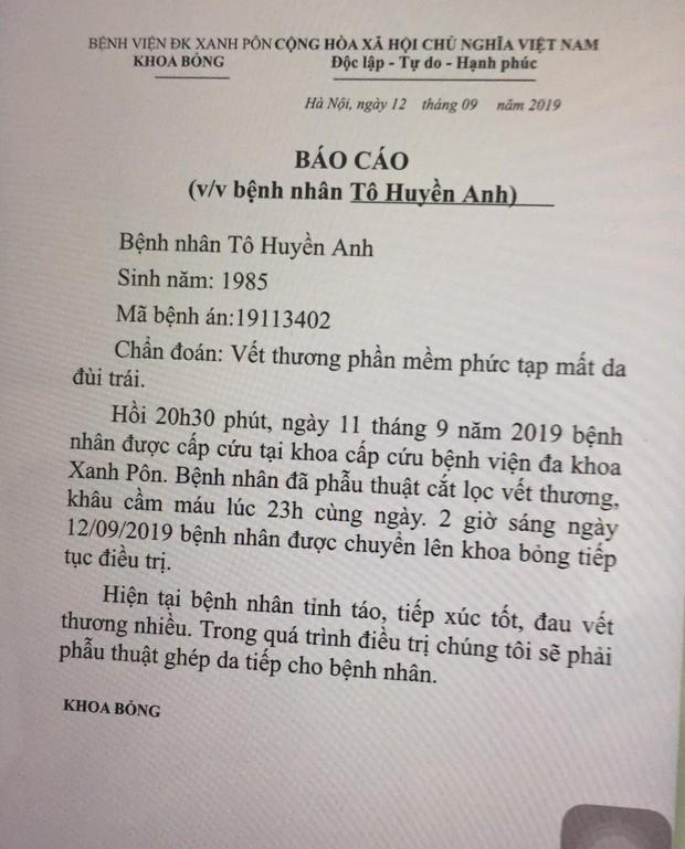 Bác sĩ điều trị lên tiếng về tình trạng của nữ CĐV bị bỏng do pháo trong trận Hà Nội FC vs Nam Định - Ảnh 2.