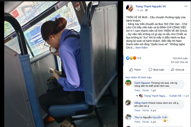 Nữ phụ xe buýt ở Sài Gòn được trở lại làm việc nhưng vẫn bị phạt do để hành khách quên mua vé - Ảnh 1.