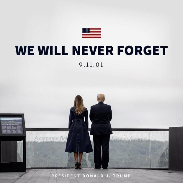 Đệ nhất phu nhân Mỹ bị chỉ trích mặc váy mô phỏng thảm kịch 11/9 - Ảnh 1.