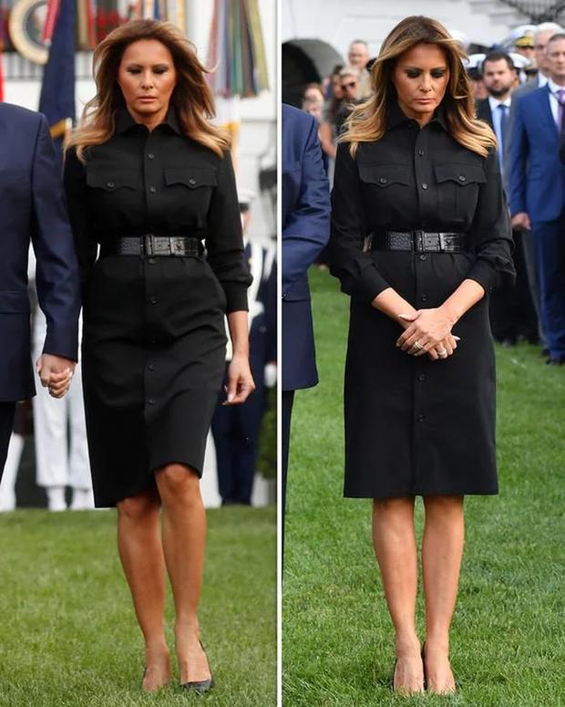 Đệ nhất phu nhân Mỹ bị chỉ trích vì chi tiết giời ơi đất hỡi trên váy khiến một số người liên tưởng đến thảm kịch 11/9 - Ảnh 3.