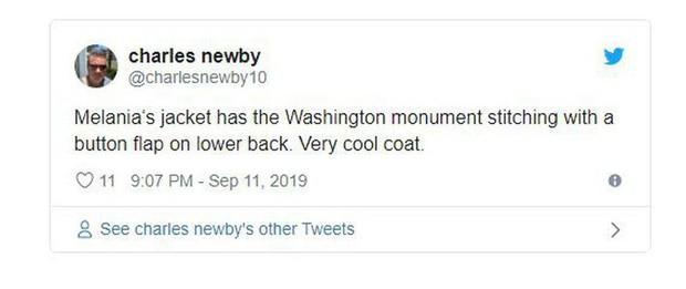 Đệ nhất phu nhân Mỹ bị chỉ trích vì chi tiết giời ơi đất hỡi trên váy khiến một số người liên tưởng đến thảm kịch 11/9 - Ảnh 9.