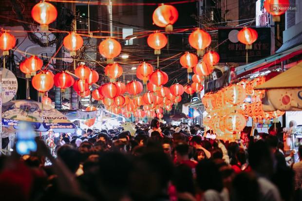 Hàng ngàn người chen nhau toát mồ hôi tại Phố lồng đèn Sài Gòn trong đêm Trung thu - Ảnh 1.