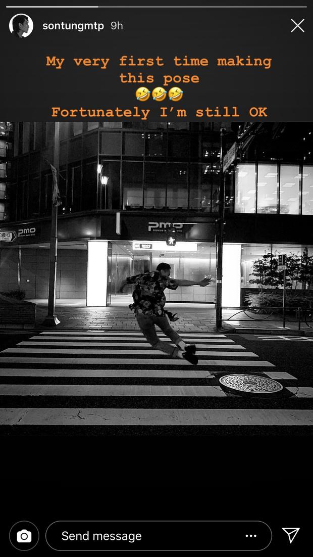 Sơn Tùng M-TP đăng ảnh đi chơi trung thu ở Nhật, nhưng buồn cười nhất vẫn là cú pose lúc đi hết mình của Sếp ở story - Ảnh 9.