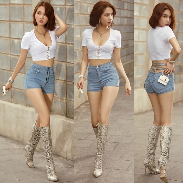Mix đồ chao ôi là khó cảm, Ngọc Trinh rồi sẽ thành kẻ hủy diệt đồ jeans mất! - Ảnh 3.