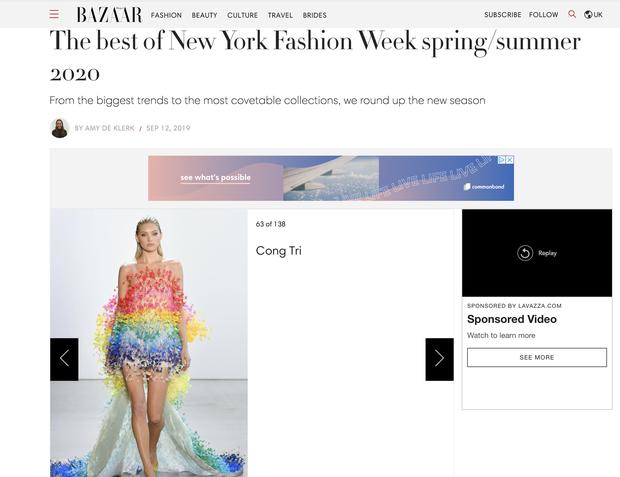 Lên Vogue đã quen, lần này có đến 6 hạt sương của Công Trí được Harpers Bazaar khen là đỉnh nhất NYFW - Ảnh 1.