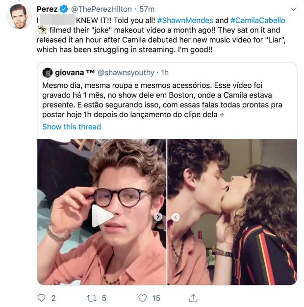 Shawn - Camila tiếp tục dính nghi án tung chiêu PR cho MV mới, clip hôn ngấu nghiến hoá ra được quay từ 1 tháng trước? - Ảnh 3.