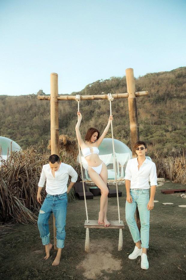 Bỏ qua các bức ảnh nude gây sốc, chuyến đi Bali của Ngọc Trinh cũng cho ra đời kha khá kiểu tạo dáng bikini độc - đẹp để chị em tham khảo nè! - Ảnh 1.