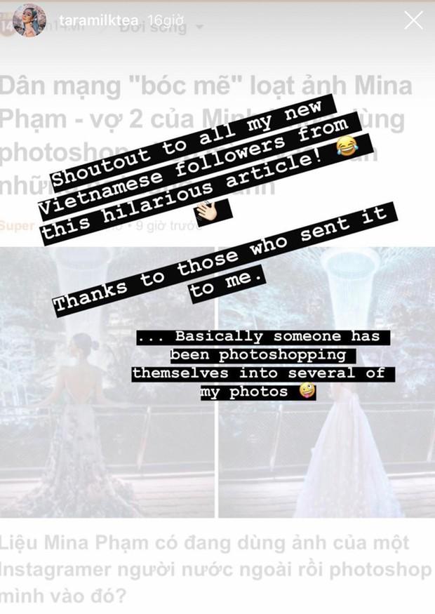 Mina Phạm - vợ 2 đại gia Minh Nhựa đăng story xoáy thẳng vào phốt photoshop ảnh, hỏi ngược: Ảnh ăn cắp đây ư? - Ảnh 1.