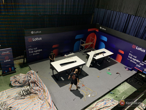 Lộ ảnh sân khấu ra mắt MXH Lotus trước giờ G: Màn hình khủng mãn nhãn, công nghệ hiệu ứng 3D hoành tráng - Ảnh 18.