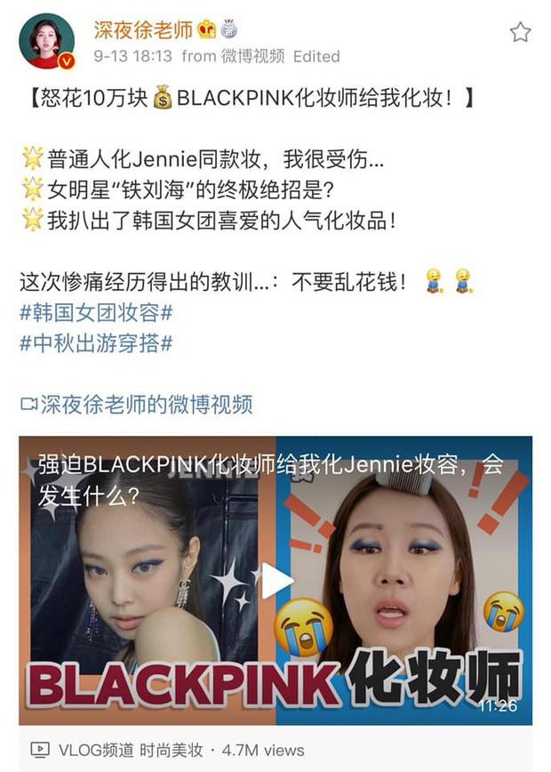 Góc chơi lớn: blogger xứ Trung chi 232 triệu VNĐ sang Hàn để được chuyên gia của Black Pink makeup giống Jennie - Ảnh 5.