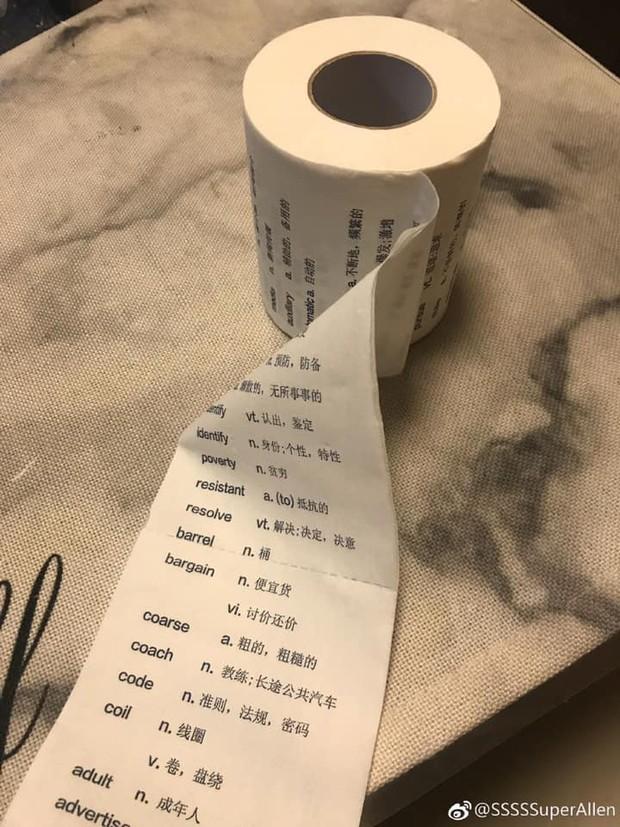 Xuất hiện cuộn giấy vệ sinh in từ vựng tiếng Anh, dân mạng bình luận không dám đi giải quyết vì sợ mất kiến thức - Ảnh 2.