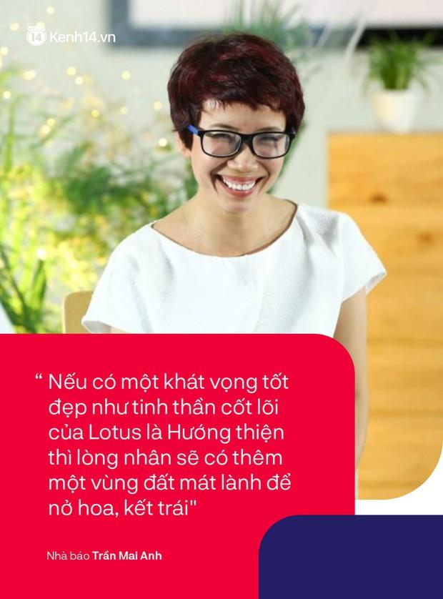 Nhà báo Trần Mai Anh và 13 năm mang điều tử tế đến với những đứa trẻ: Tinh thần hướng thiện đại diện cho những giá trị tích cực của MXH Lotus - Ảnh 3.