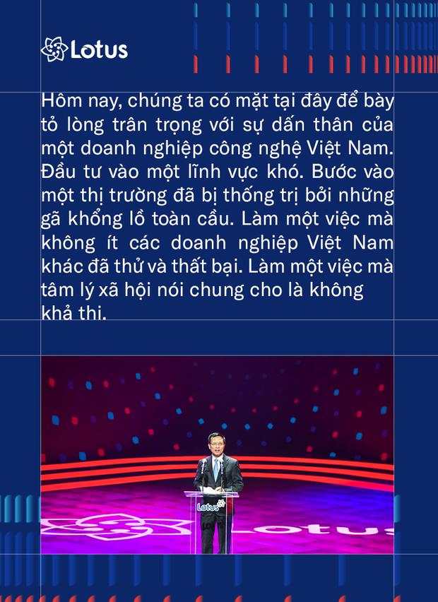 Bộ trưởng Bộ TT&TT Nguyễn Mạnh Hùng: Phát triển Lotus không phải thách thức mà là cơ hội. Vì việc dễ thì không tạo ra người tài - Ảnh 4.