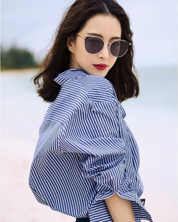 Có một kiểu áo sơ mi đang rất được lòng các sao nữ xứ Hàn: Diện lên trẻ trung, thu gọn vóc dáng và hơn thế nữa - Ảnh 5.