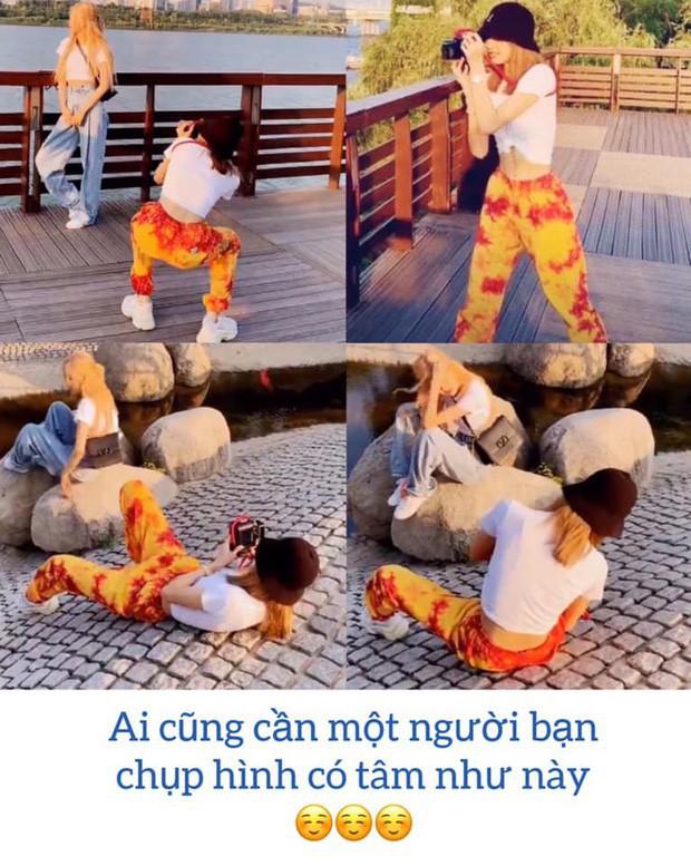 """Từ Việt sang Hàn, ai cũng mong đi du lịch có được người bạn chụp ảnh có tâm, sẵn sàng """"lăn xả"""" như Chi Pu - Diệu Nhi và Lisa - Rosé (BLACKPINK) - Ảnh 14."""