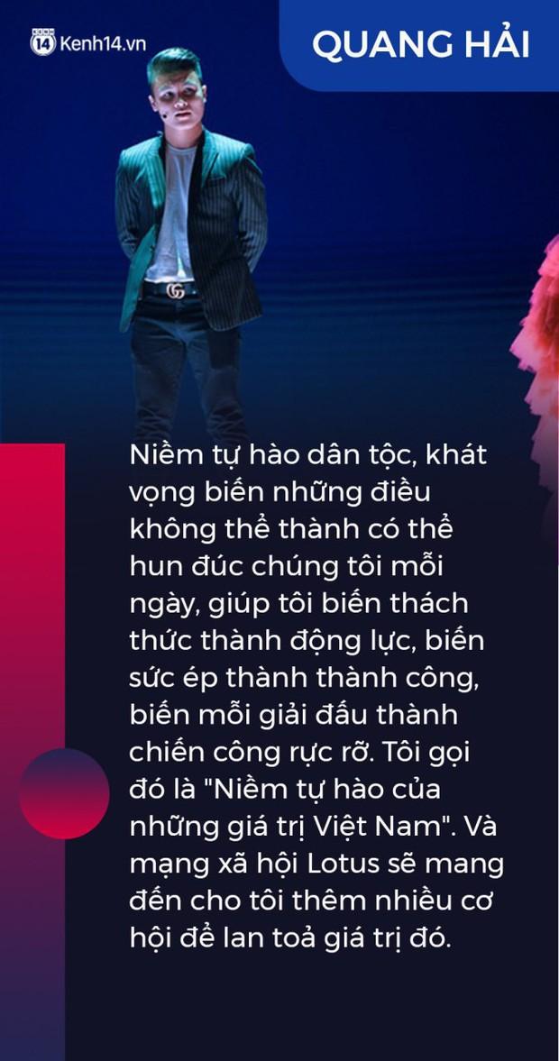 Ninh Dương Lan Ngọc, Quang Hải và nhà báo Mai Anh gây xúc động: Lotus sẽ mang đến cơ hội lan tỏa niềm tự hào giá trị Việt Nam - Ảnh 2.