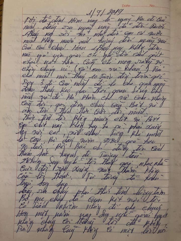 Xác minh bức thư hàng năm nay không dám dùng dầu gội, không dám nạp điện thoại được cho là của nghi phạm truy sát cả nhà em gái - Ảnh 2.