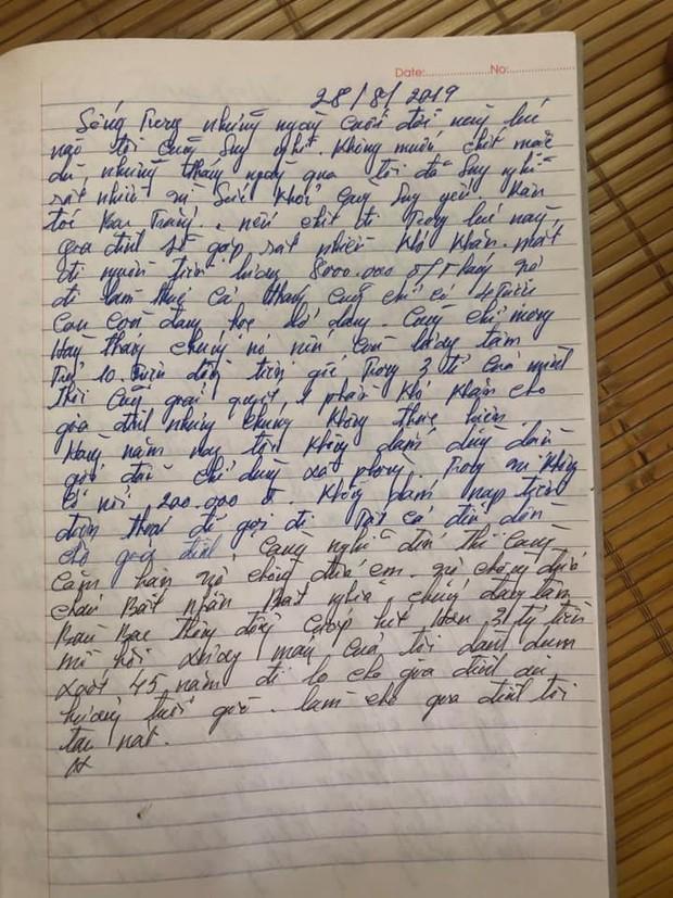 Xác minh bức thư hàng năm nay không dám dùng dầu gội, không dám nạp điện thoại được cho là của nghi phạm truy sát cả nhà em gái - Ảnh 3.