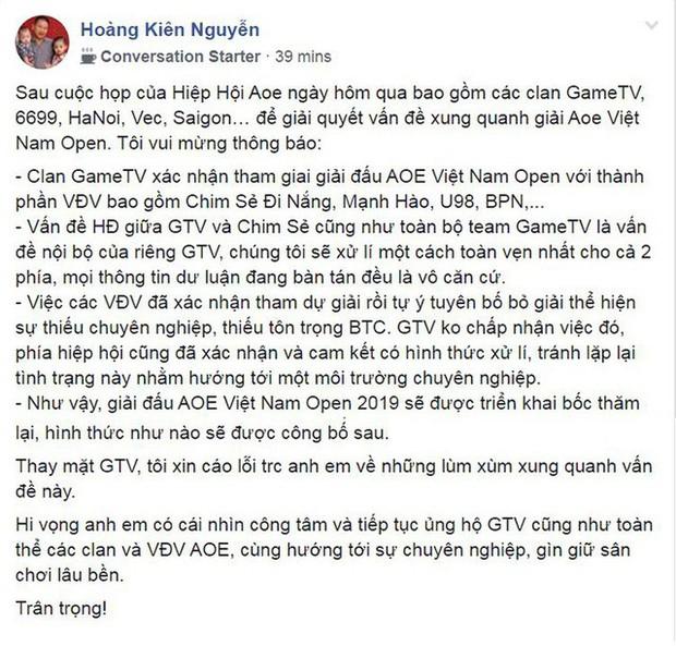Chim Sẻ Đi Nắng chính thức trở lại màu áo đỏ của GameTV và tham dự giải đấu AoE Việt Nam Open 2019 - Ảnh 3.