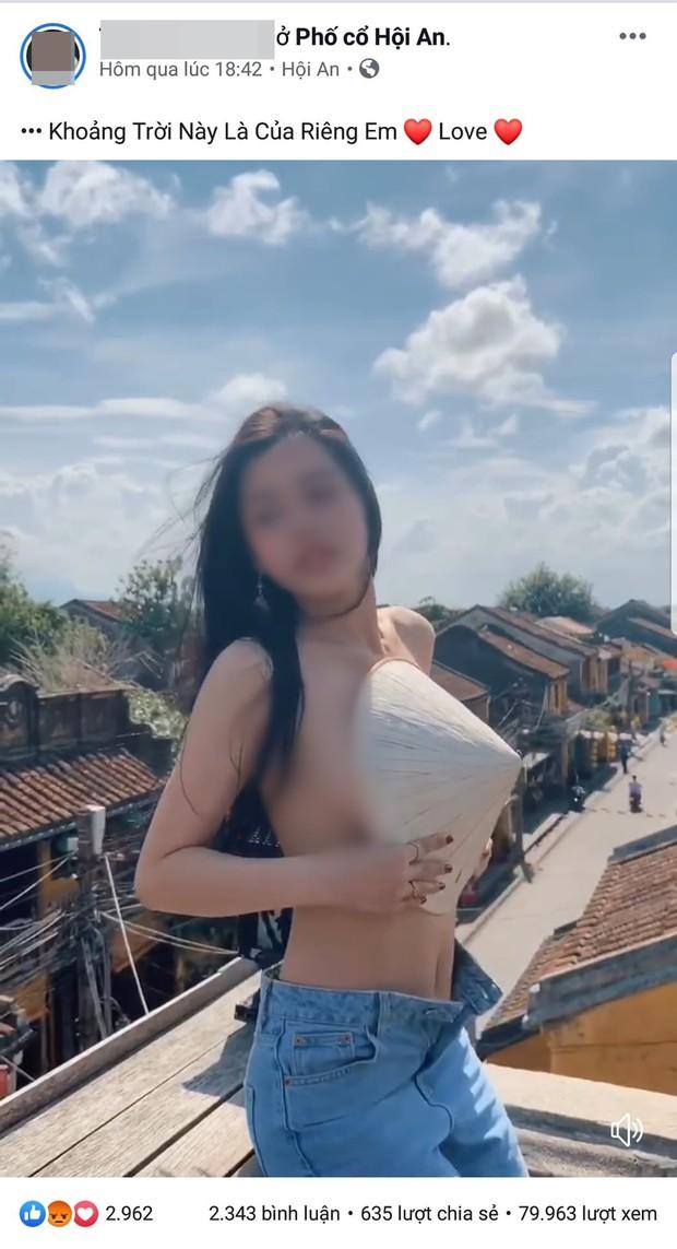 """Vụ """"hot girl"""" bán khỏa thân để quay clip phản cảm trên nóc nhà ở Hội An: Hành động lố lăng, phản cảm và không phù hợp với văn hóa của phố cổ - Ảnh 1."""