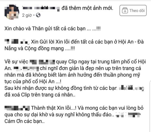 Cô gái bán khỏa thân quay clip phản cảm và chủ quán cà phê ở phố cổ Hội An lên tiếng xin lỗi - Ảnh 1.