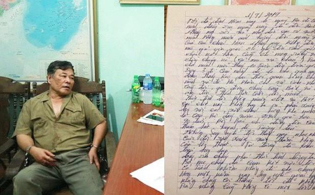 Nghi phạm truy sát gia đình em gái viết thư gửi vợ nói cuộc sống quá cơ cực, sống nhục nên thà chết trước - Ảnh 1.