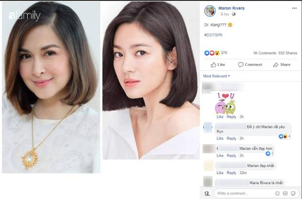 Vừa cắt tóc, mẹ 3 con đẹp nhất Philippines khiến dân tình ngỡ ngàng vì quá giống Song Hye Kyo - Ảnh 3.