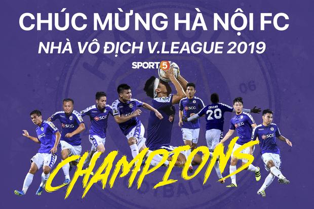 Chiến thắng SLNA, Hà Nội FC chính thức lên ngôi vô địch V.League 2019 - Ảnh 1.