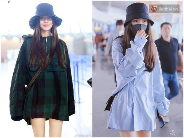 Dương Mịch - Angela Baby rất chăm diện 2 item khoe dáng ra sân bay, tạo nên cuộc so kè vóc dáng khó phân định - Ảnh 4.