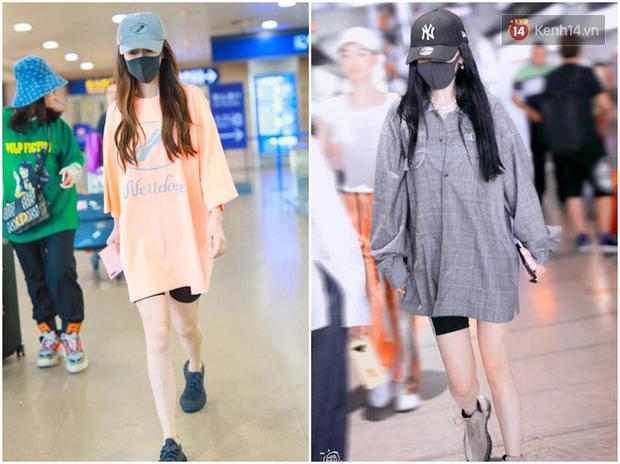 Dương Mịch - Angela Baby rất chăm diện 2 item khoe dáng ra sân bay, tạo nên cuộc so kè vóc dáng khó phân định - Ảnh 7.