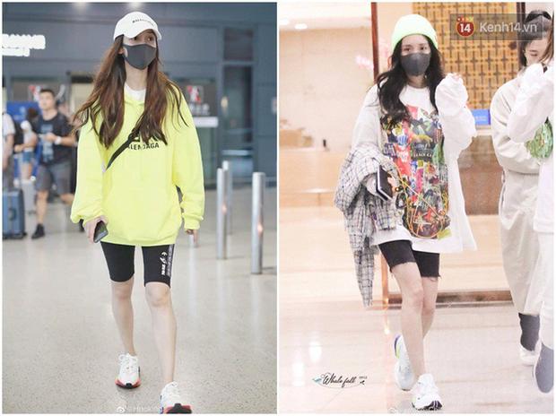 Dương Mịch - Angela Baby rất chăm diện 2 item khoe dáng ra sân bay, tạo nên cuộc so kè vóc dáng khó phân định - Ảnh 6.