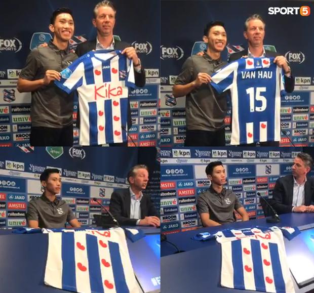 Đoàn Văn Hậu chính thức ra mắt SC Heerenveen: Khoác áo số 15, khẳng định sẽ không làm gia đình và người hâm mộ thất vọng - Ảnh 3.