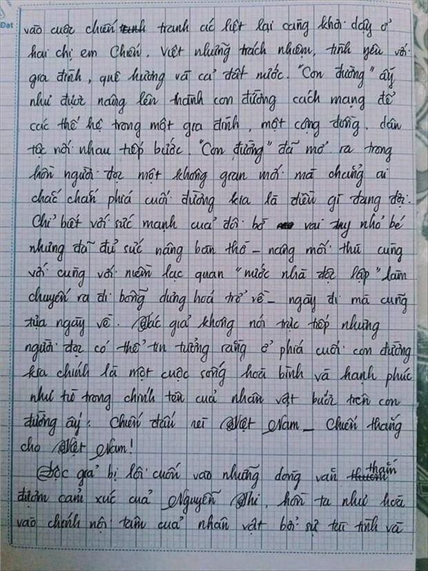 Nam sinh gây sốt với bài văn dài 18 trang, cô giáo đọc xong không biết phải phê gì vì quá xuất sắc! - Ảnh 13.