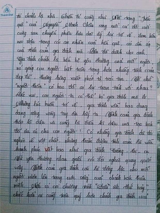Nam sinh gây sốt với bài văn dài 18 trang, cô giáo đọc xong không biết phải phê gì vì quá xuất sắc! - Ảnh 16.