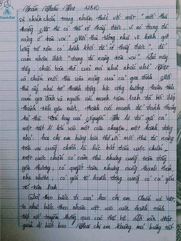 Nam sinh gây sốt với bài văn dài 18 trang, cô giáo đọc xong không biết phải phê gì vì quá xuất sắc! - Ảnh 10.