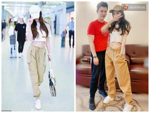 Dương Mịch - Angela Baby rất chăm diện 2 item khoe dáng ra sân bay, tạo nên cuộc so kè vóc dáng khó phân định - Ảnh 1.